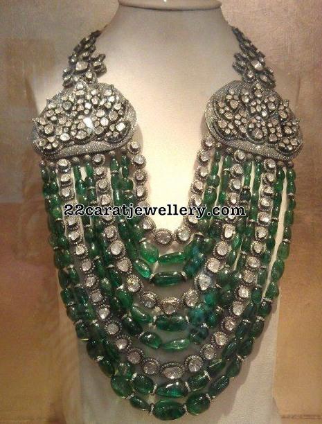 Victorian Style Grand Emerald Haram