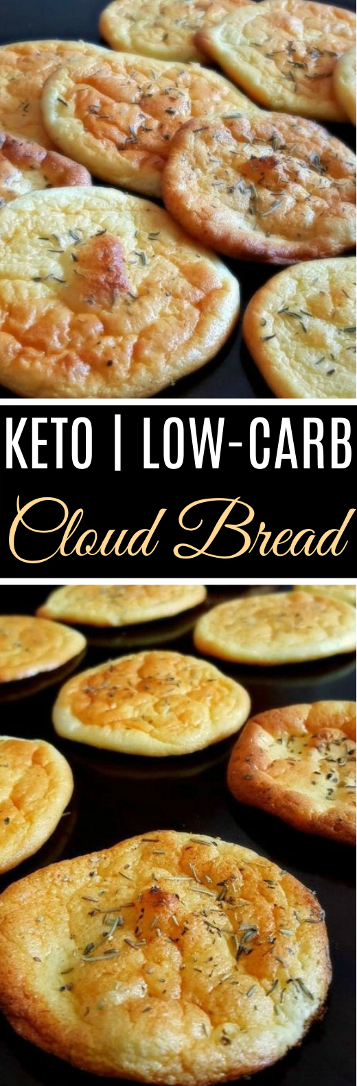 No-Carb Cloud Bread with Only 4 Ingredients #healthy #keto #breakfast #lowcarb #diet