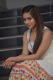 Telugu Actress Anu Emmanuel New Stills in Beautiful White Long Dress  0058.JPG