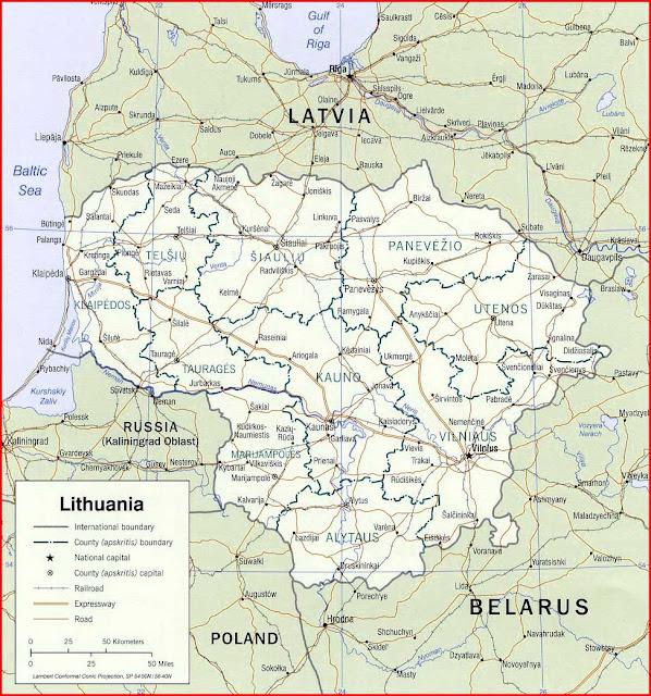 Gambar Peta politik Lithuania 2002