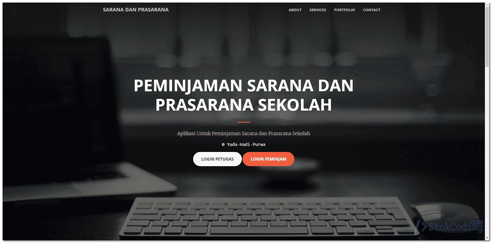 Aplikasi Web Peminjaman Alat Sekolah (Codeigniter)