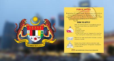 Permohonan Rakyat Malaysia Di Singapura Yang Ingin Pulang Ke Malaysia (Semakan Status)