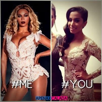 Beyonce e Anitta roupa parecida