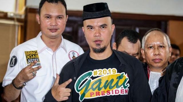 Pisah dari Tim Prabowo, Ahmad Dhani: Siapa Aja Asal Presiden Ganti