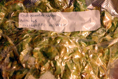 My current stash of Citra hops.