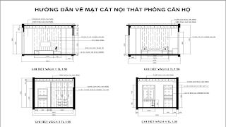 cách ve mat cat noi that phong can ho trong autocad