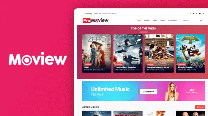 ProMoview Premium Blogger Template
