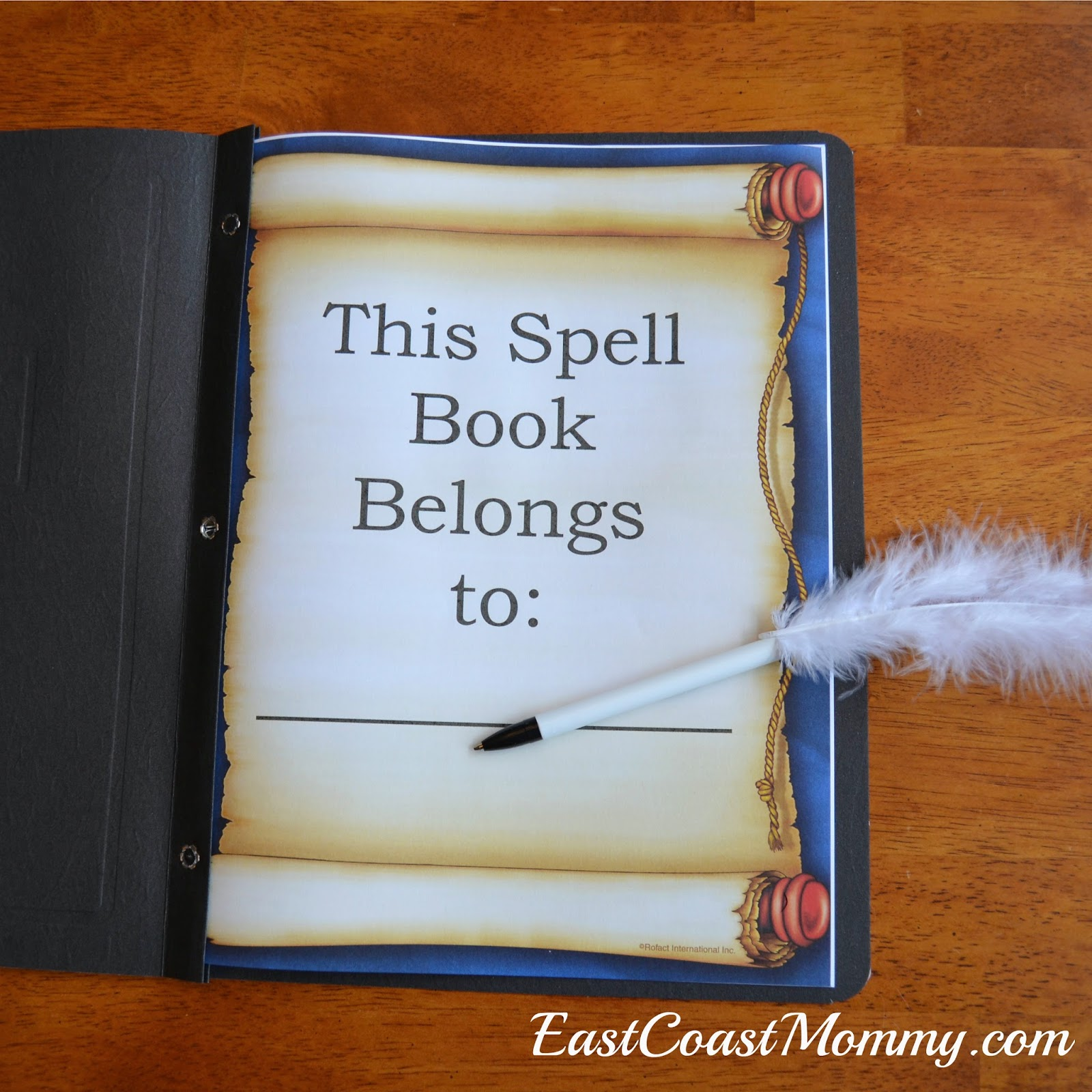 photo relating to Printable Spell Book Pages named East Coastline Mommy: Harry Potter Spell Guides and Quills with