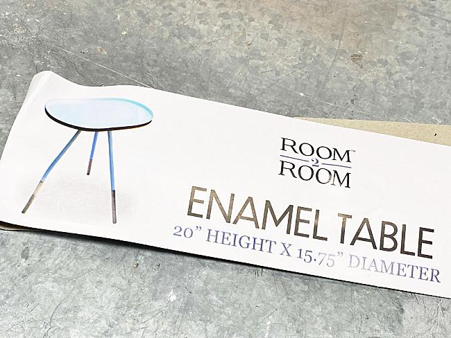 DIY Farmhouse Style Enamelware Table