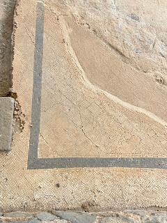 Varignano Roman Villa - mosaic floor detail