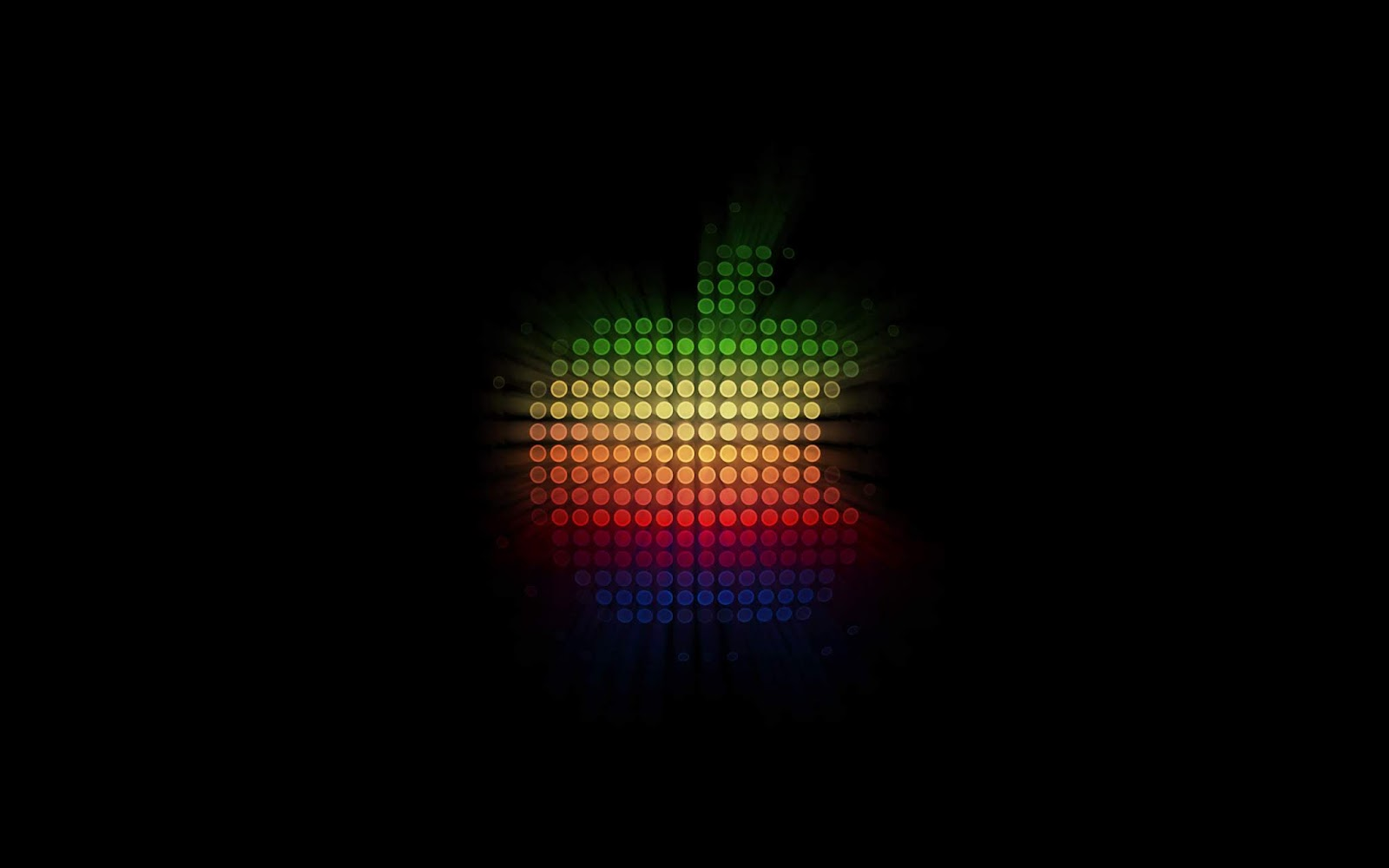 Apple logo, Dark Background, Colorful, HD, Technology