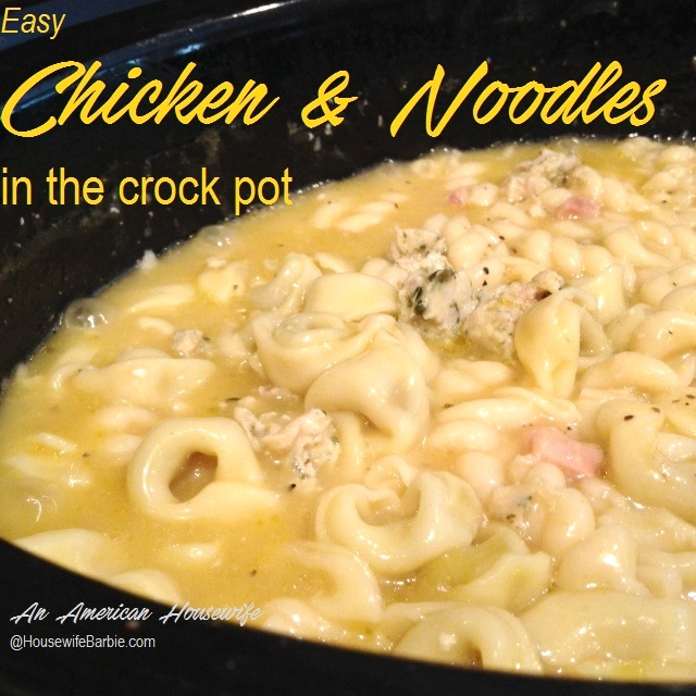 An american housewife easy quick comfort foods chicken noodles this an old grandma recipe its completely not healthy carby because of the pasta and it has sodium due to the cans of cream of chicken soup and forumfinder Images
