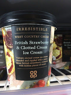 co op British Strawberry & Clotted Cream ice cream