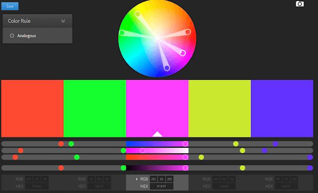 موقع لاختيار ألوان