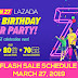 Lazada's 7th Birthday Flash Sale Schedule - March 27, 2019