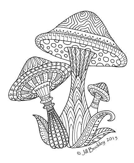 coloring pages of shrooms - photo#10