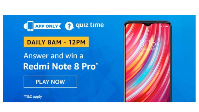 Amazon Redmi Note 8 Pro Quiz Answers – 5 February 2020