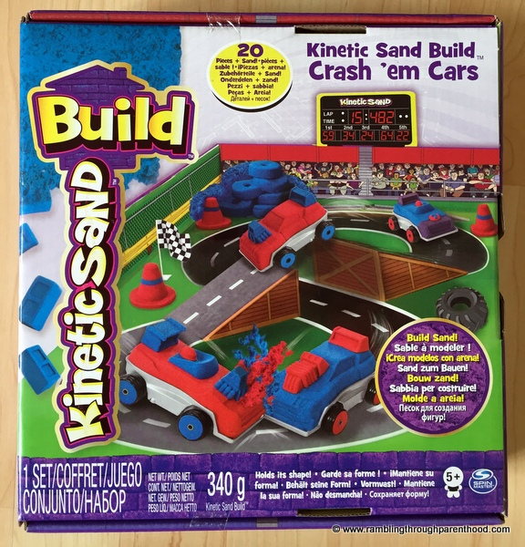 Kinetic Sand Build - Crash 'em Cars by Spin Master.