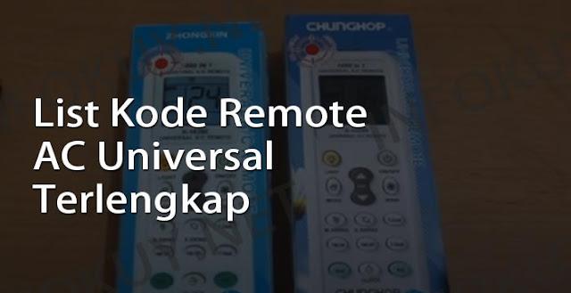 kode remote ac universal