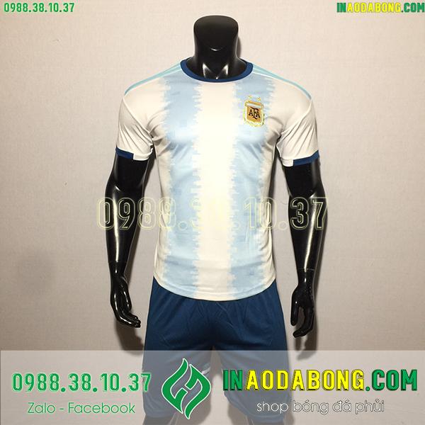 Áo bóng đá đội tuyển Argentina 2020 màu xanh trắng