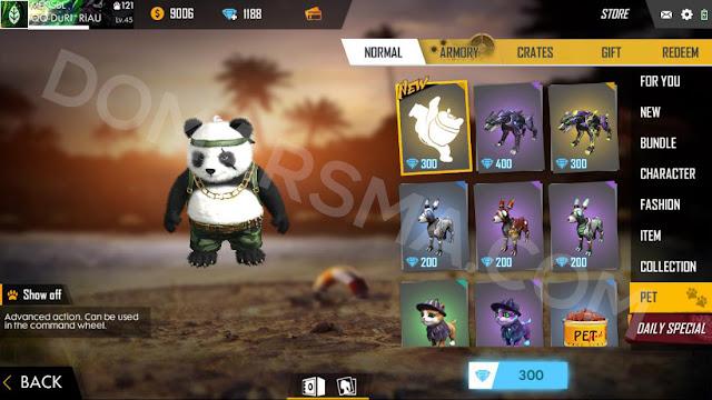 Cara Mendapatkan dan Ability/Kemampuan Pet Panda Pada Game Free Fire