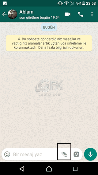 whatsapp Sohbet penceresi