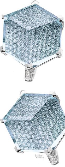 Brilliant Luxury♦Paolo Costagli Petit Blu Topaz And Diamond Brilliante® Valentina Ring