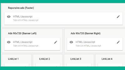 Hướng dẫn tạo widget trong bố cục chèn mã quảng cáo adsense chạy dọc hai bên blog