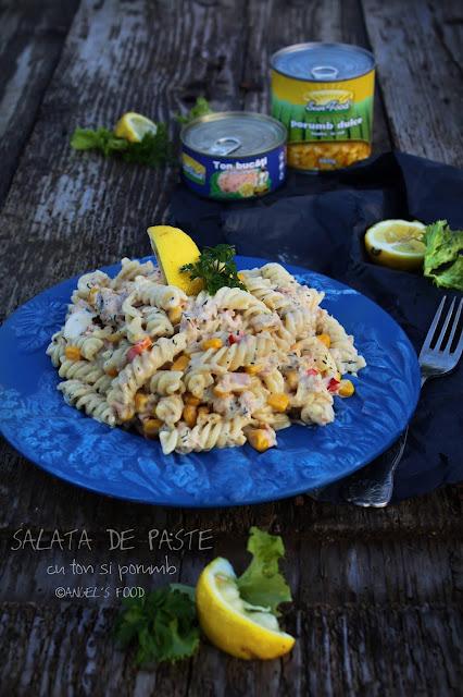 Salata de paste cu ton si porumb Sun Food
