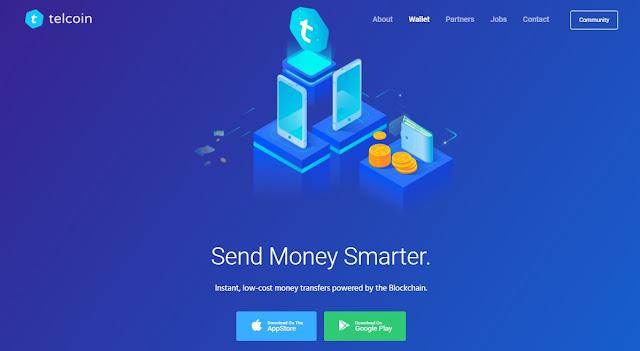 Screenshot Halaman Website Telcoin (TEL) Cryptocurrency