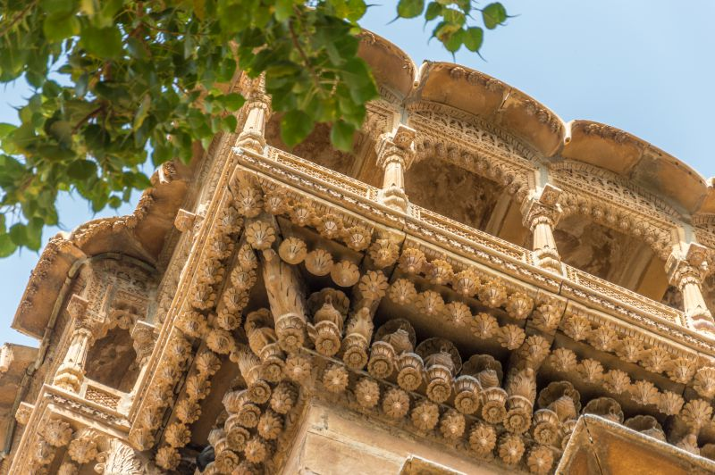 Ornate roof of the Salim Singh ki Haveli- Jaisalmer