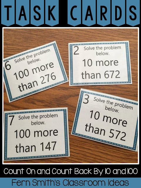 Ready to Review Counting On and Counting Back By 10 and 100? This 2nd Grade Go Math Lesson 2.9 Count On and Count Back By 10 and 100 Bundle is Perfect! Fern Smith's Classroom Ideas at TeacherspayTeachers.