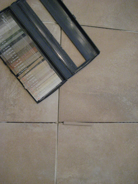Grout colors for tile floors - no more white for me!