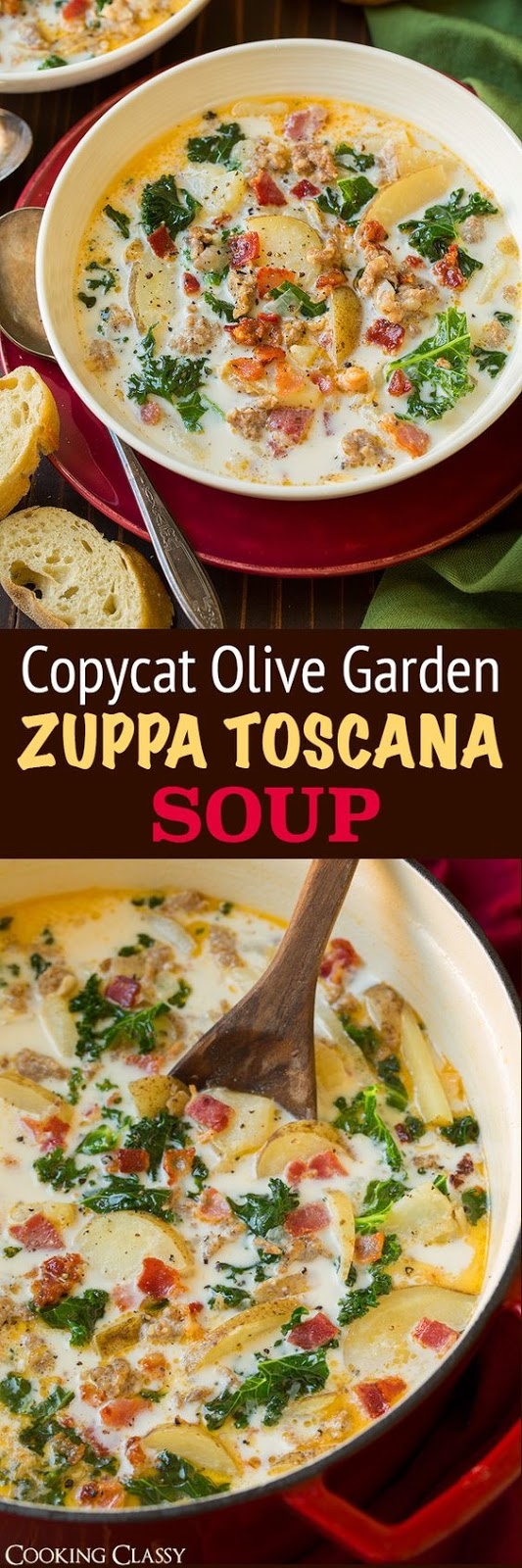 Zuppa toscana soup olive garden copycat cucina de yung for Olive garden copycat zuppa toscana