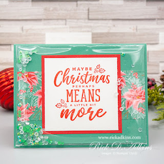 Learn how to make a super simple shaker card using the Christmas Means More Stamp Set from Stampin' Up! Click here to learn more