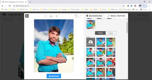 How to Change Photo Background online