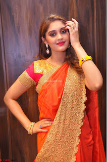 Surabhi looks stunning in Saree at Nakshatra Fashion Store Launch at Suchitra X Road 08.JPG