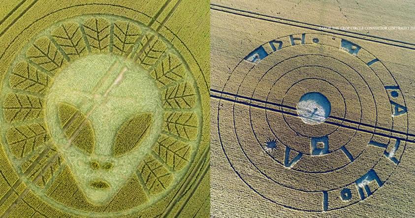 ¿Mensaje extraterrestre? Impresionantes crop circles aparecidos en Inglaterra