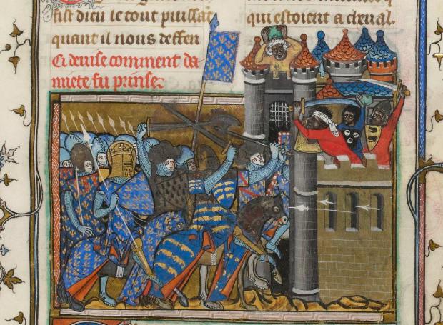 prise de Damiette par Saint Louis 1249