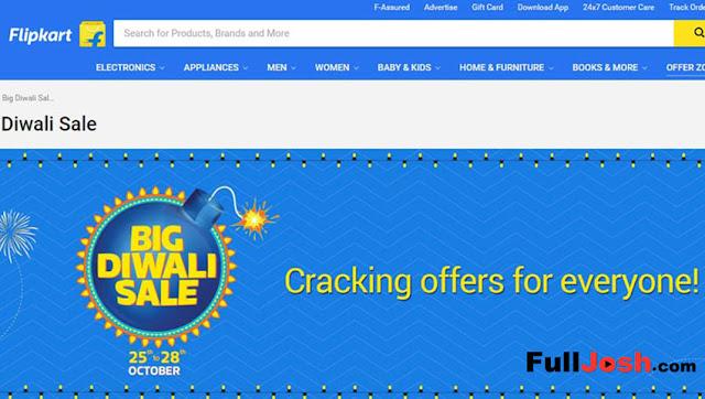 Flipkart Big Diwali Sale : Huge Discounts, Exchange Offers And More