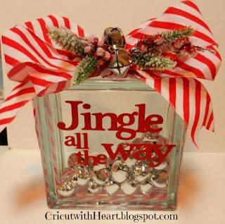 Cricut with Heart: Jingle all the way Christmas decoration