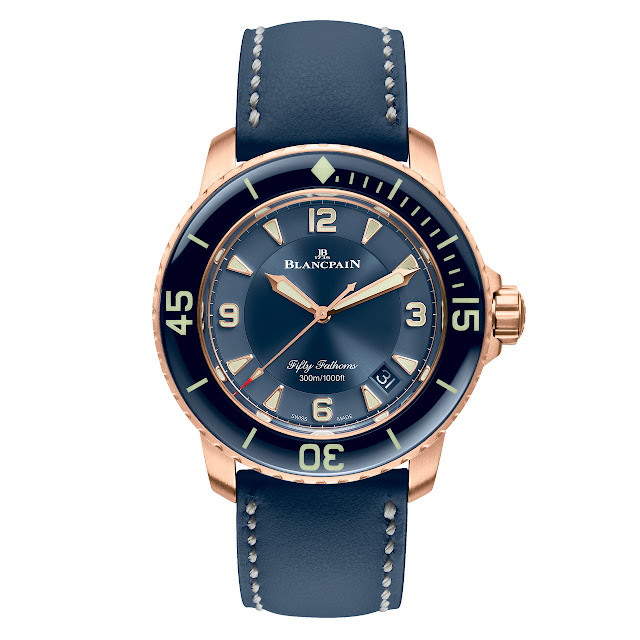 Blancpain Fifty Fathoms Automatique in red gold and ceramic dial (ref. 5015-3603C-63B)