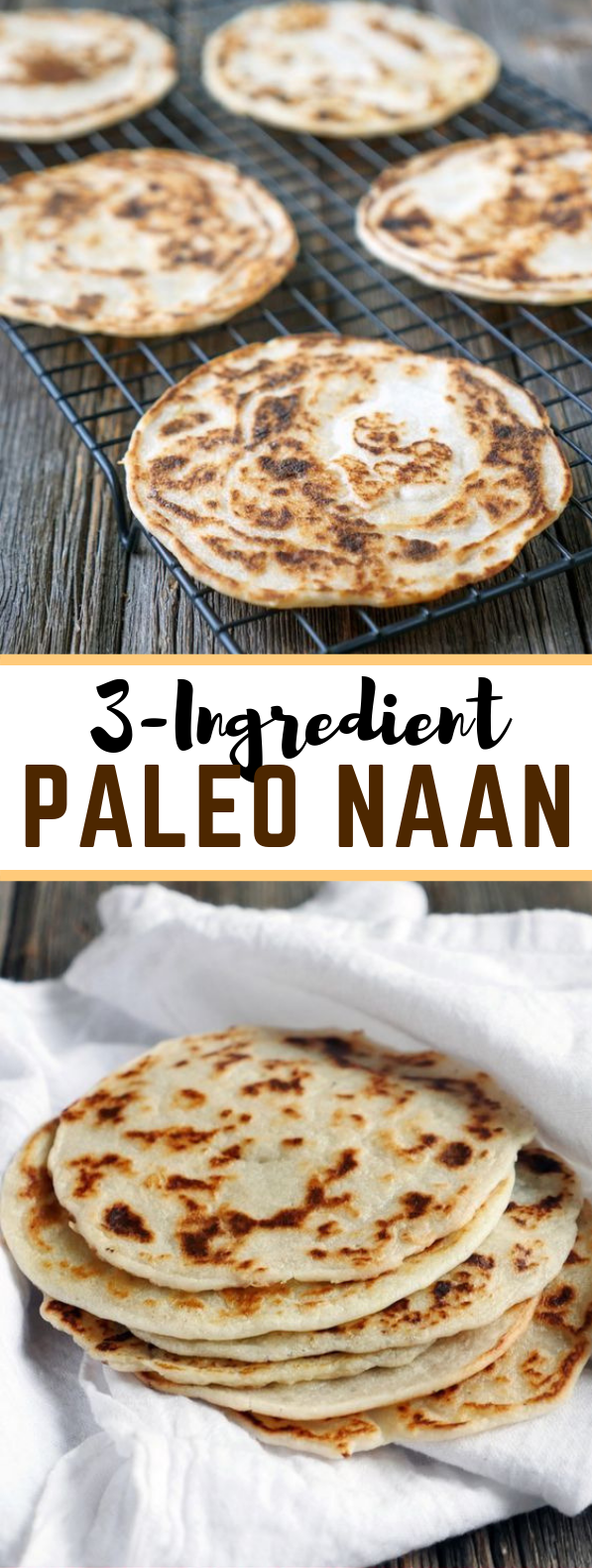 3 Ingredient Paleo Naan (Indian bread) #diet #lowcarb