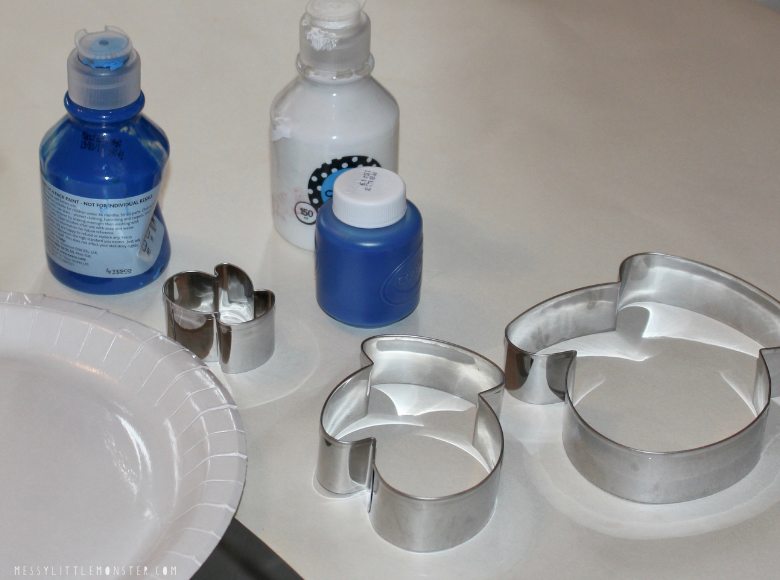 cookie cutter painting supplies