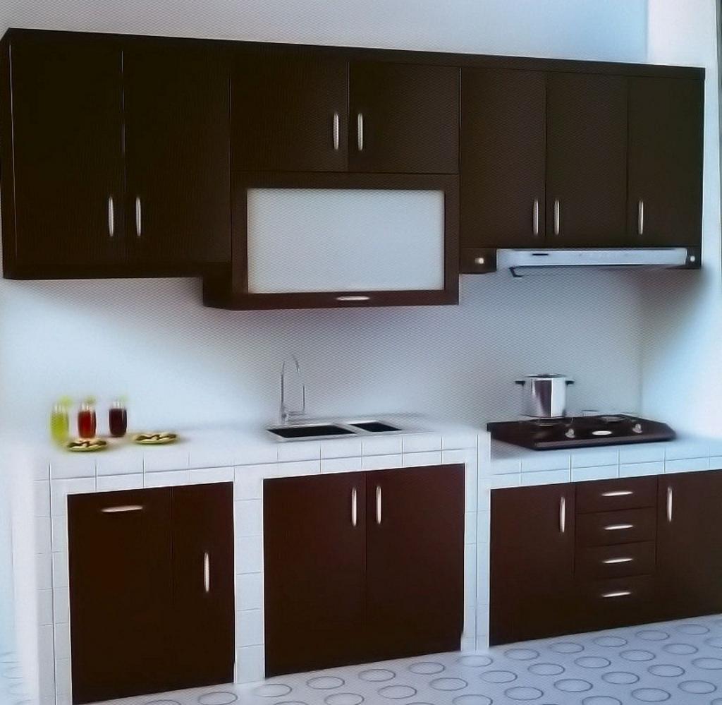 kitchen set dengan keramik 1