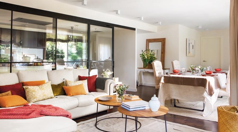 wystrój wnętrz, wnętrza, urządzanie mieszkania, dom, home decor, dekoracje, aranżacje, open space, glass wall, otwarta przestrzeń, szklana ściana, kuchnia, salon, pokój dzienny, kitchen, living room