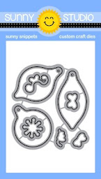 Sunny Studio Stamps Retro Ornaments Metal Cutting Dies Set