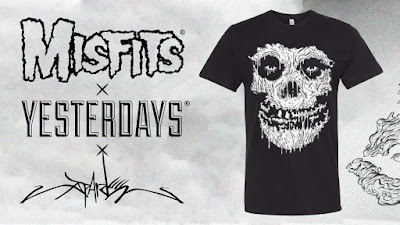 "San Diego Comic-Con 2020 Exclusive Misfits ""Pardee Fiend"" T-Shirt by Alex Pardee x Yesterdays"