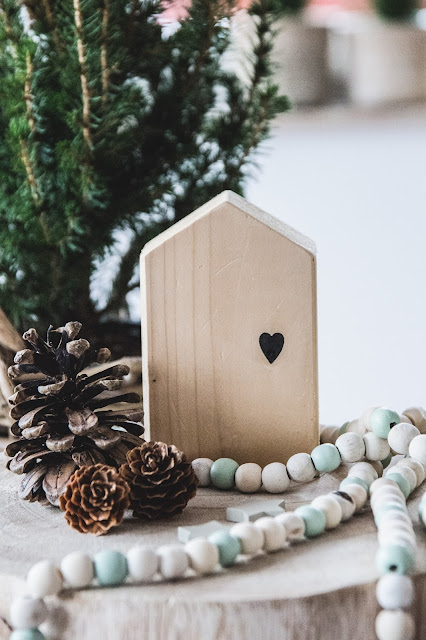 Weihnachten, weihnachtlich dekorieren, tannengrün, Holzhaus Diy