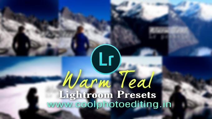 Warm teal Lightroom presets